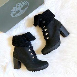Timberland Black Camdale Fleece Fold Down Boots